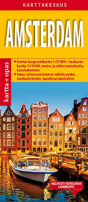 Amsterdam 1:15 000 kartta & opas, suomenkielinen