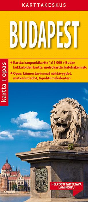 Budapest 1:15 000 kartta & opas, suomenkielinen