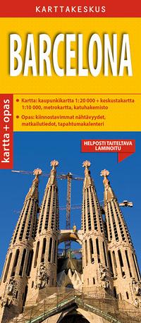 Barcelona 1:20 000 kartta & opas, suomenkielinen