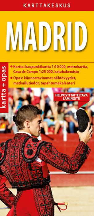Madrid kartta & opas, 1:10 000, suomenkielinen