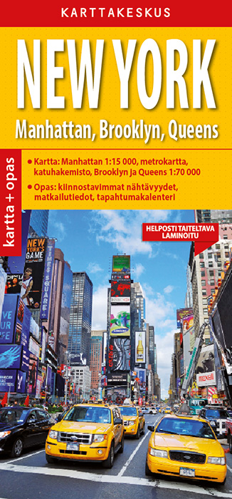 New York 1:15 000 kartta & opas, suomenkielinen