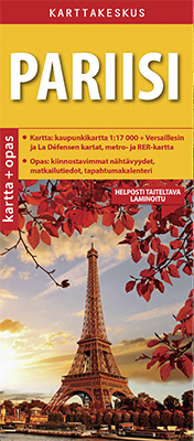 Pariisi 1:17 000 kartta & opas 2019, suomenkielinen
