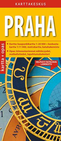 Praha 1:20 000 kartta & opas, suomenkielinen