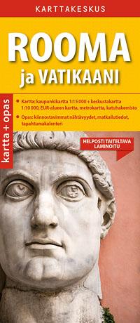 Rooma ja Vatikaani 1:15 000 kartta & opas, suomenkielinen