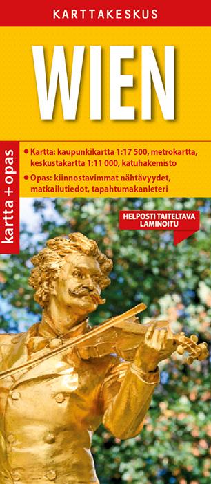 Wien 1:17 500 kartta & opas, suomenkielinen