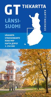 GT tiekartta Länsi-Suomi, 2018, 1:250 000