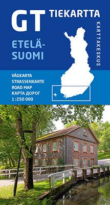 GT tiekartta Etelä-Suomi, 2020, 1:250 000
