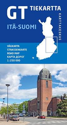 GT tiekartta Itä-Suomi, 2020, 1:250 000