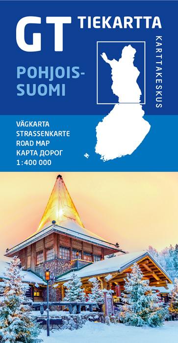 GT tiekartta Pohjois-Suomi, 2019, 1:400 000