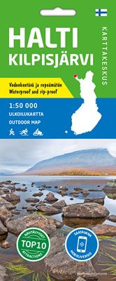 Halti Kilpisjärvi 1:50 000, vedenk. ulkoilukartta 2019