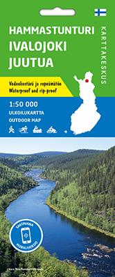 Hammastunturi Ivalojoki Juutua 1:50000, vedenk. ulk.kar 2020