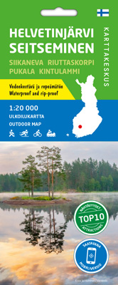 Helvetinjärvi Seitseminen 1:20 000, ulkoilukartta 2020