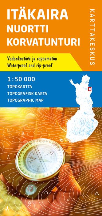 Itäkaira Nuortti Korvatunturi, Topokartta 1:50 000