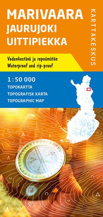 Marivaara Jaurujoki Uittipiekka, Topokartta 1:50 000