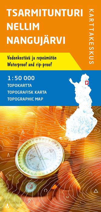 Tsarmitunturi Nellim Nangujärvi, Topokartta 1:50 000