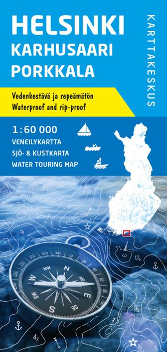 Helsinki Karhusaari Porkkala, veneilykartta 1:60 000