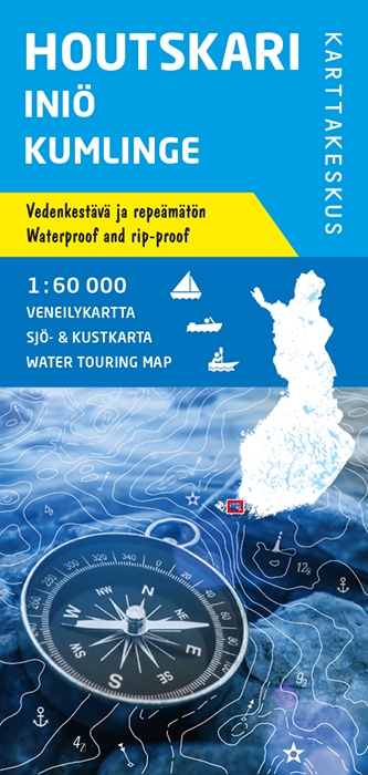 Houtskari Iniö Kumlinge, veneilykartta 1:60 000