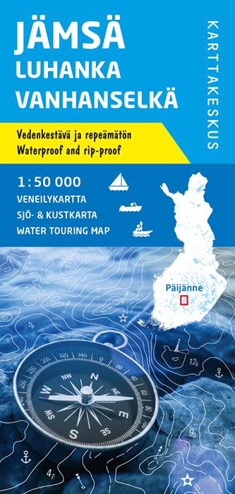 Jämsä Luhanka Vanhanselkä, veneilykartta 1:50 000