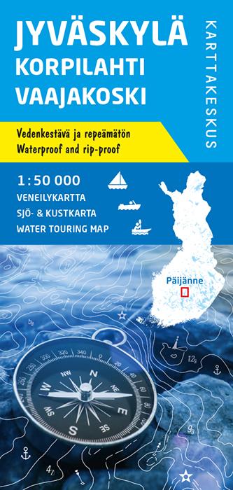 Jyväskylä Korpilahti Vaajakoski, veneilykartta 1:50 000