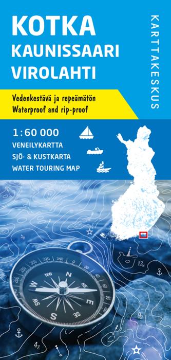 Kotka Kaunissaari Virolahti, veneilykartta 1:60 000