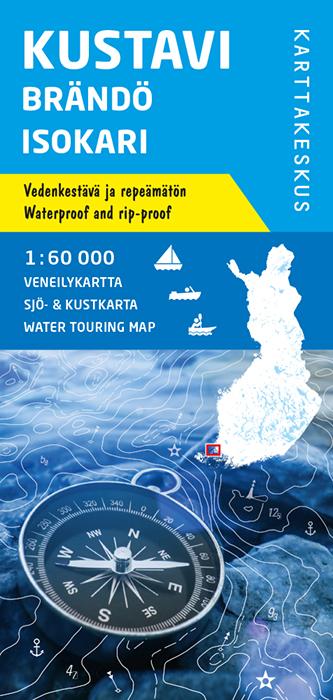 Kustavi Brändö Isokari, veneilykartta 1:60 000