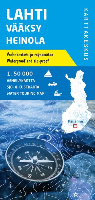 Lahti Vääksy Heinola, veneilykartta 1:50 000