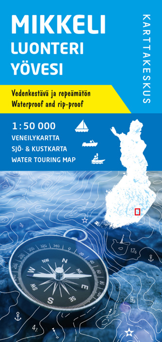 Mikkeli Luonteri Yövesi, veneilykartta 1:50 000