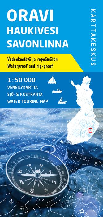Oravi Haukivesi Savonlinna, veneilykartta 1:50 000