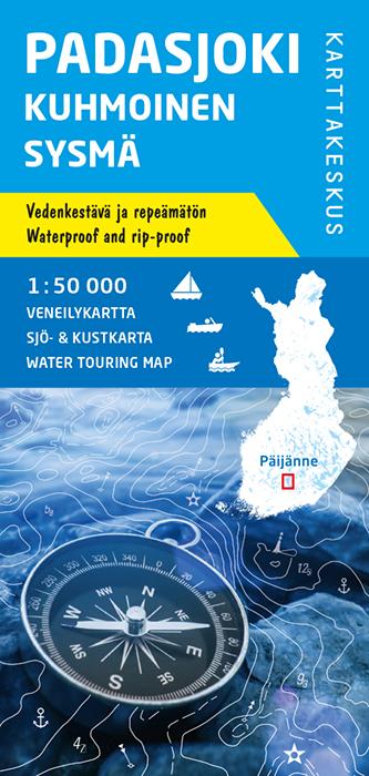 Padasjoki Kuhmoinen Sysmä, veneilykartta 1:50 000