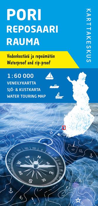Pori Reposaari Rauma, veneilykartta 1:60 000