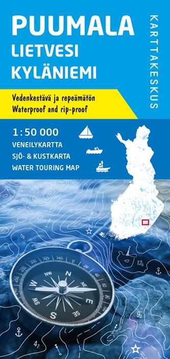 Puumala Lietvesi Kyläniemi, veneilykartta 1:50 000