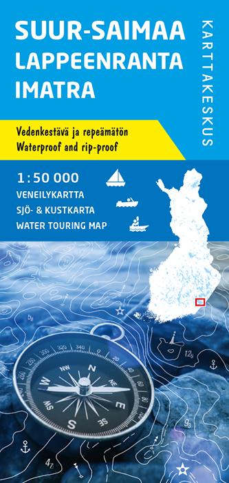 Suur-Saimaa Lappeenranta Imatra, veneilykartta 1:50 000