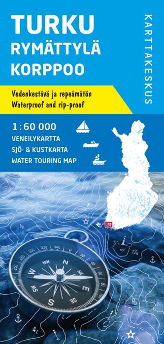 Turku Rymättylä Korppoo, veneilykartta 1:60 000