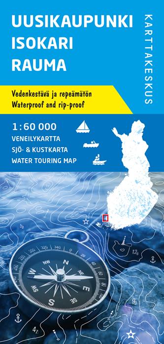 Uusikaupunki Isokari Rauma, veneilykartta 1:60 000