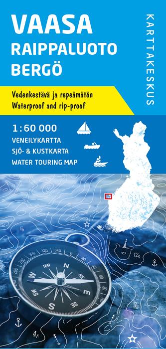 Vaasa Raippaluoto Bergö, veneilykartta 1:60 000