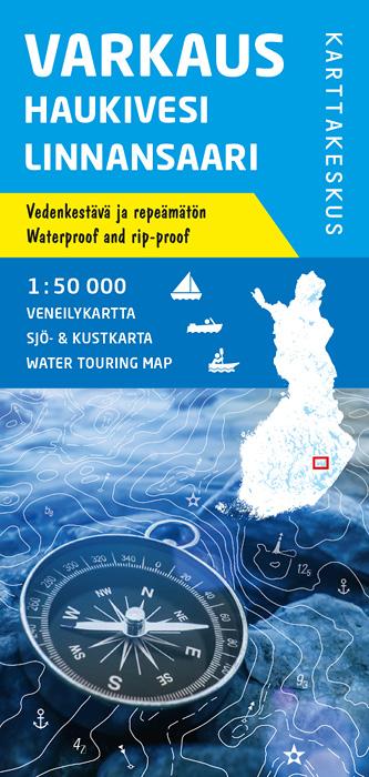 Varkaus Haukivesi Linnansaari, veneilykartta 1:50 000