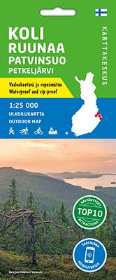 Koli Ruunaa Patvinsuo Petkeljärvi 1:25 000, ulkoiluk. 2020