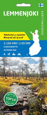 Lemmenjoki 1:100 000/1:50 000, vedenkestävä ulk.kartta 2017