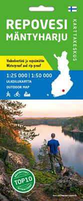 Repovesi Mäntyharju 1:25 000/1:50 000, vedenk. ulkoiluk 2017