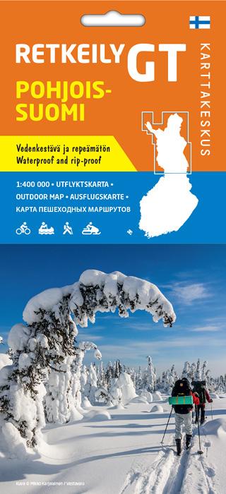 Retkeily GT Pohjois-Suomi 1:400 000, 2016