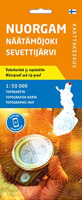 Nuorgam Näätämöjoki Sevettijärvi, Topokartta 1:50 000