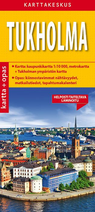 Tukholma 1:10 000 kartta & opas, suomenkielinen