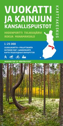 Vuokatti ja Kainuun kans.puistot 1:25 000, ulkoiluk. 2015