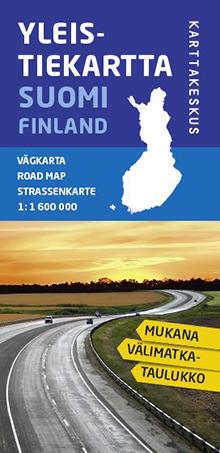 Yleistiekartta Suomi 1:1,6 milj.