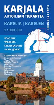 Karjala, Autoilijan tiekartta, 1:800 000, 2019
