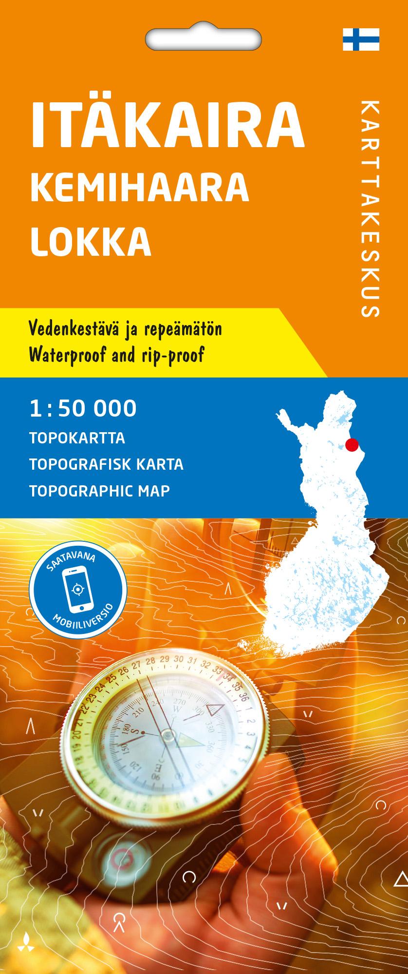 Itäkaira Kemihaara Lokka, Topokartta 1:50 000