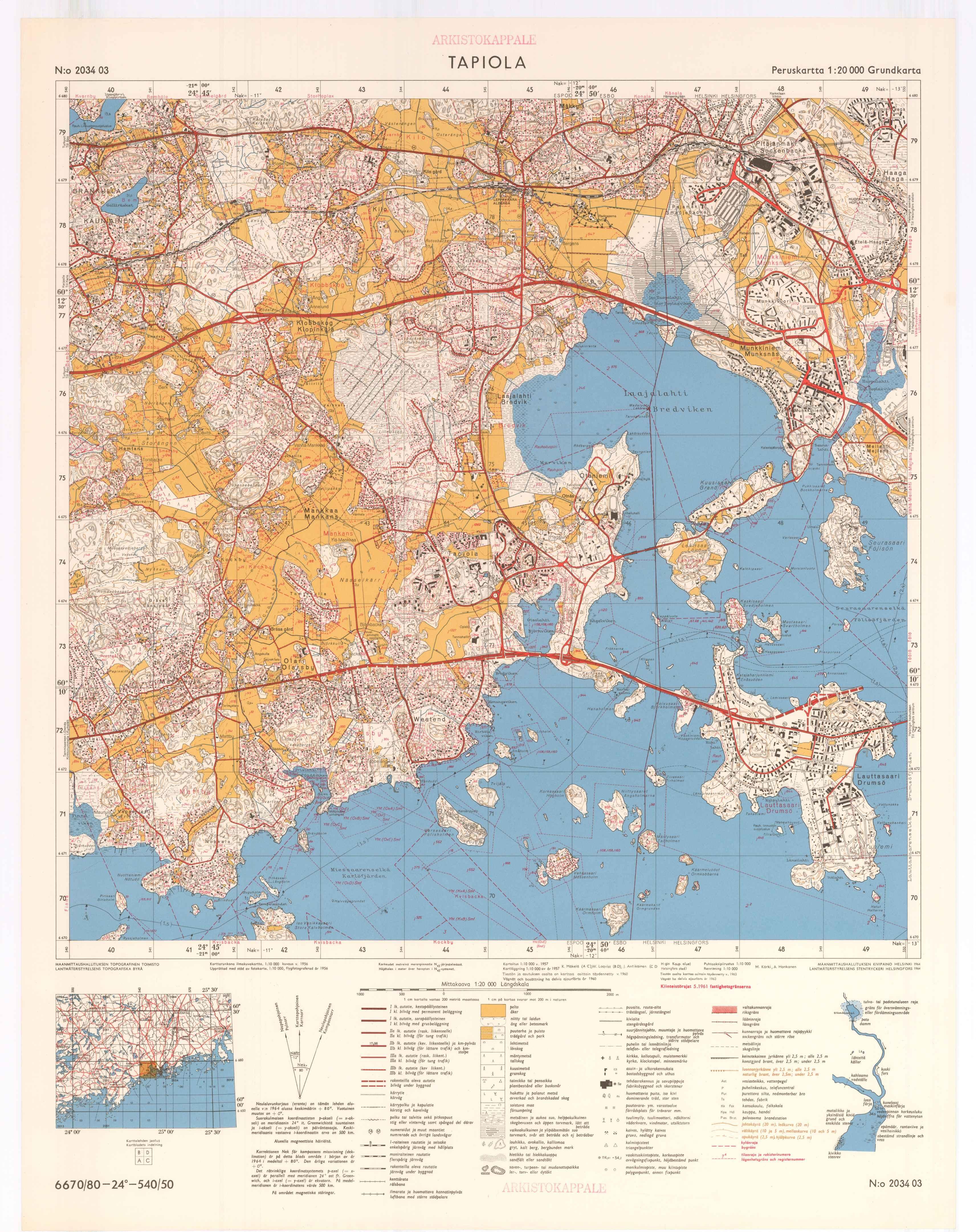 Kartta vuodelta 1961