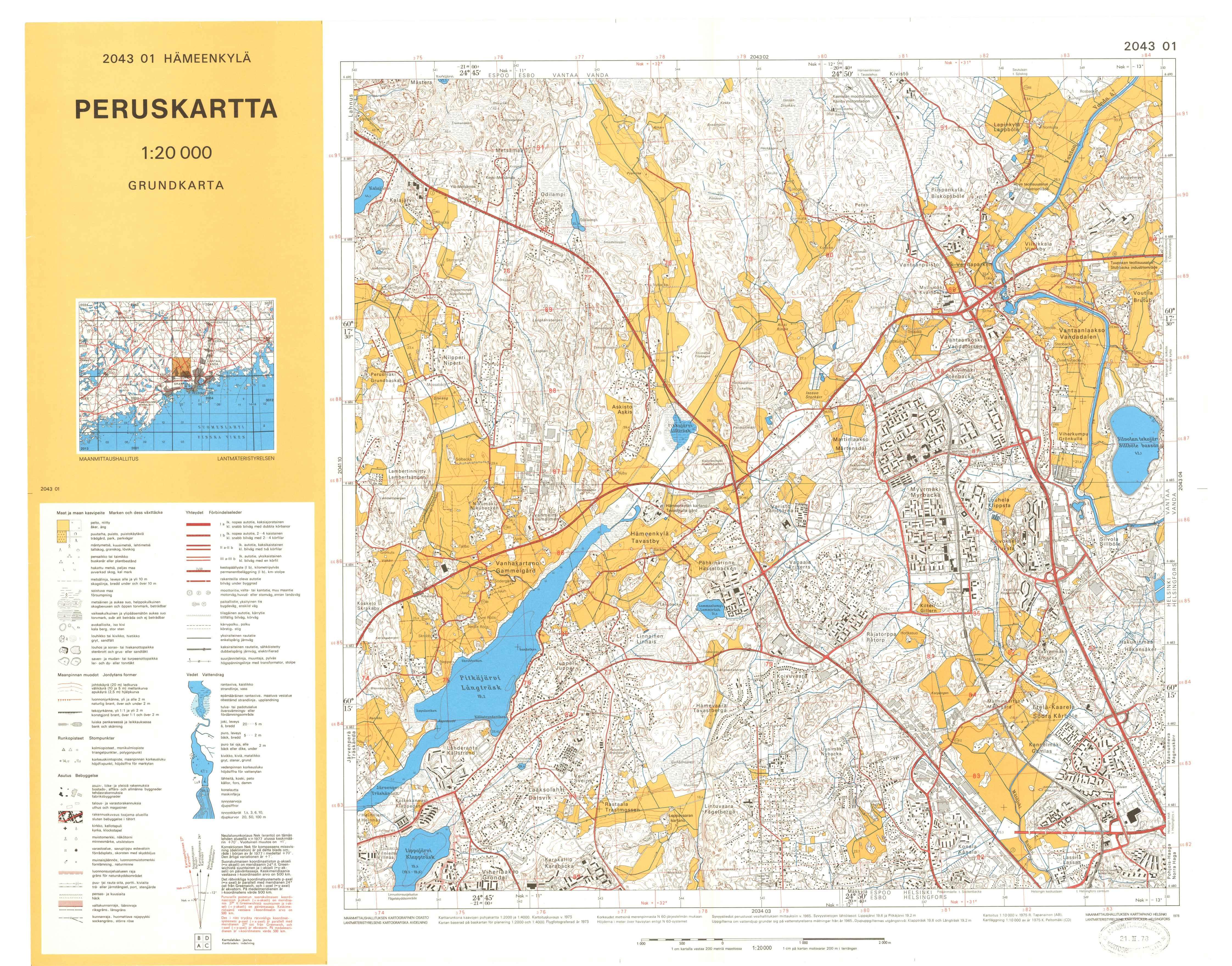 Kartta vuodelta 1978