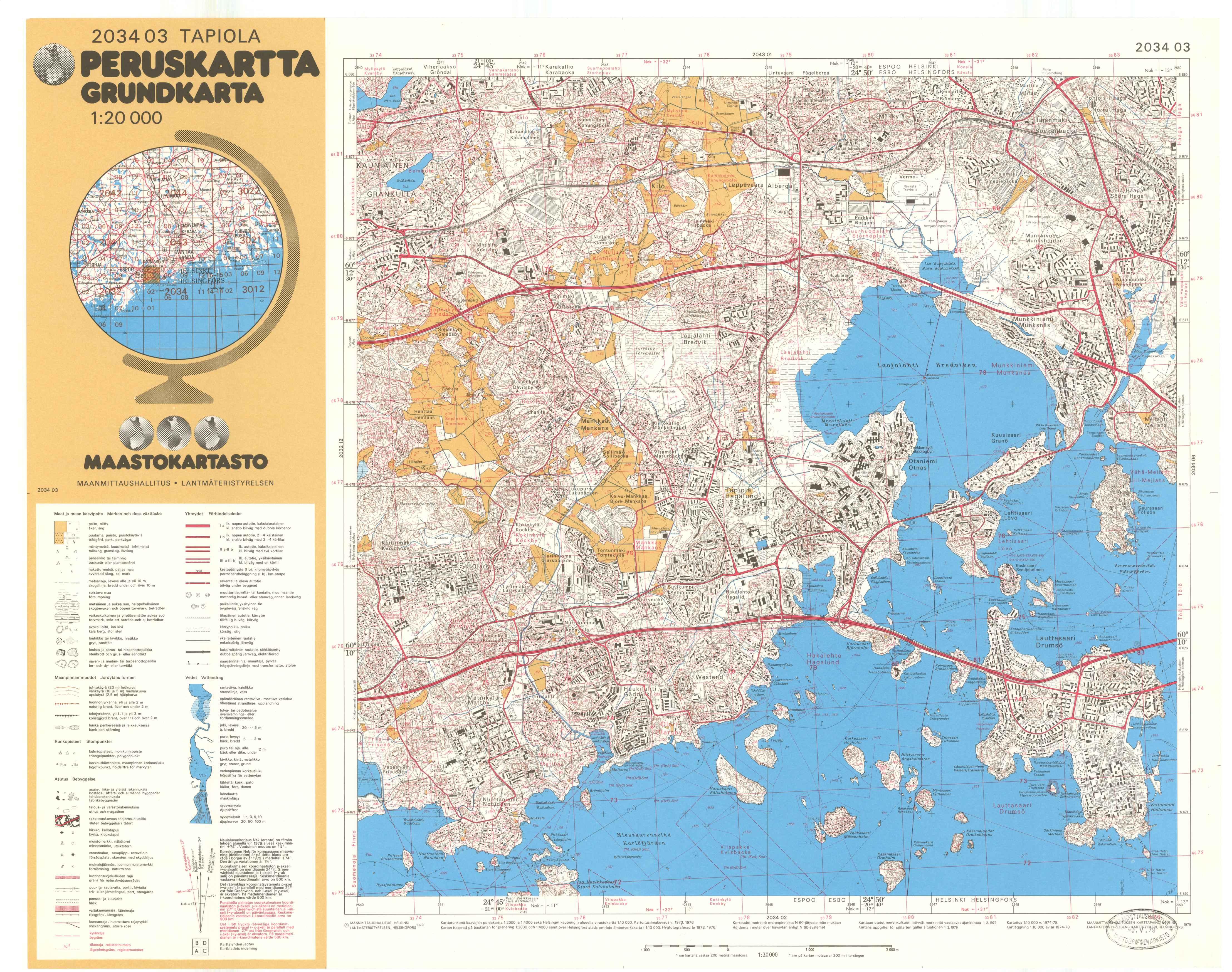 Kartta vuodelta 1979