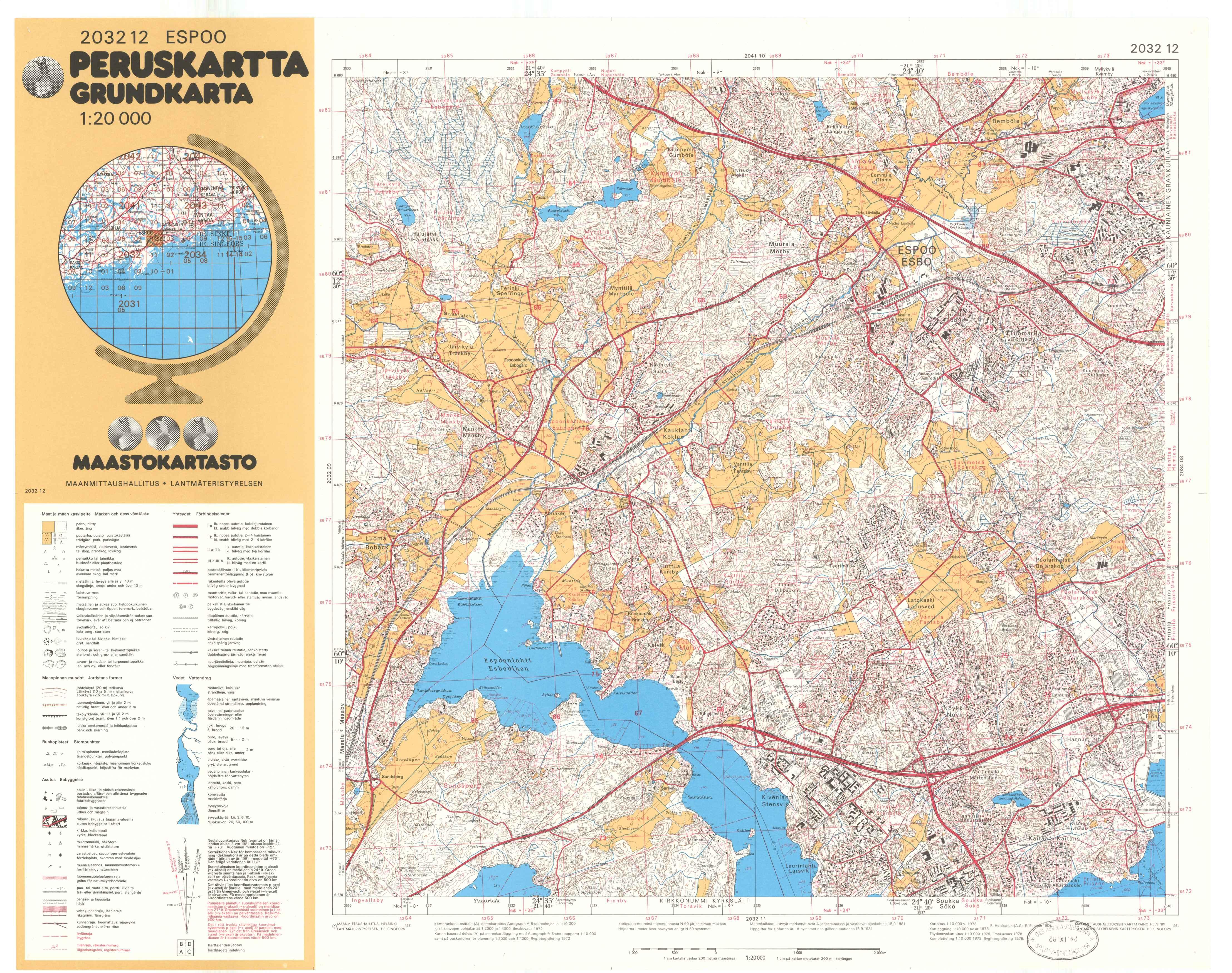 Kartta vuodelta 1981